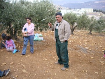Yusef Murad, a sesame farmer from Kufr Manda
